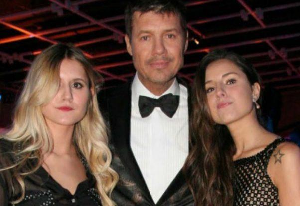 Marcelo Tinelli y sus hijas