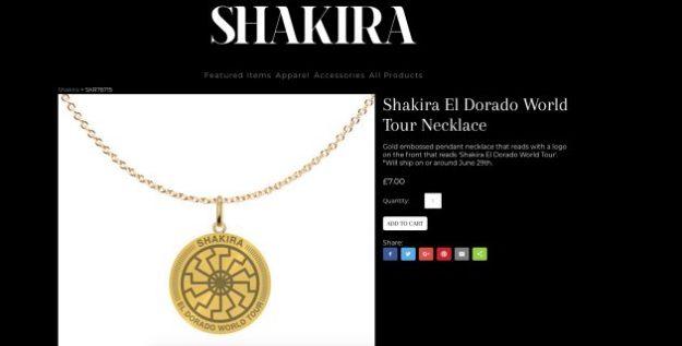 Shakira El Dorado World Tour Necklace