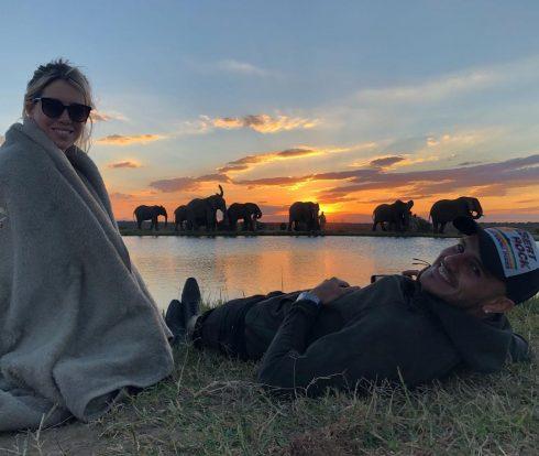 Wanda Nara y Mauro Icardi en Sudáfrica