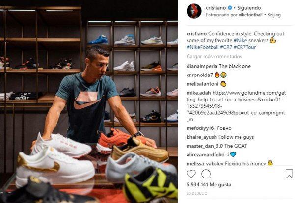 c4b1ca4b5 El futbolista portugués delantero en la Juventus de Turín cobra 750.000  dólares por cada publicación en su Instagram.