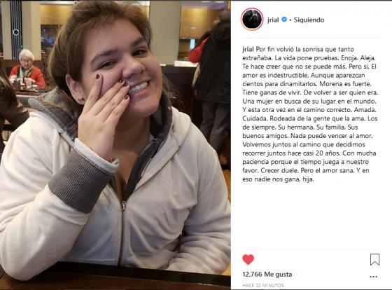 Morena Rial post Jorge Rial