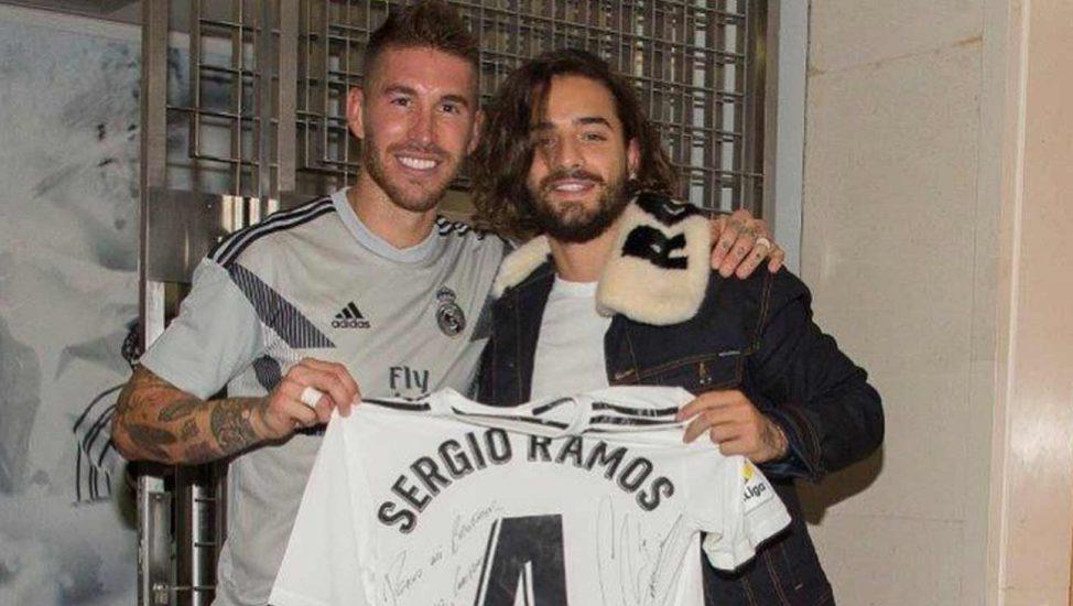 Maluma y Sergio Ramos