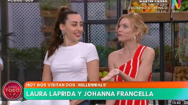 Laura laprida y Johanna Francella