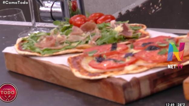 Pizzas a la parrilla sin gluten
