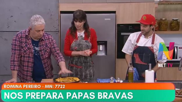Romina Pereiro preparó papas bravas