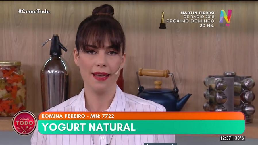 Romina Pereiro yogurt natural