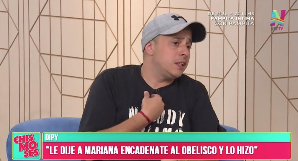 El Dipy exteriorizó su enojo con Calamaro por sus dichos sobre Mariana Diarco