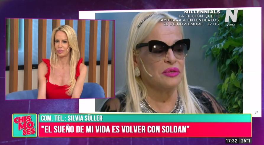 Silvia Süller y Silvio Soldán están a un paso de reconciliarse