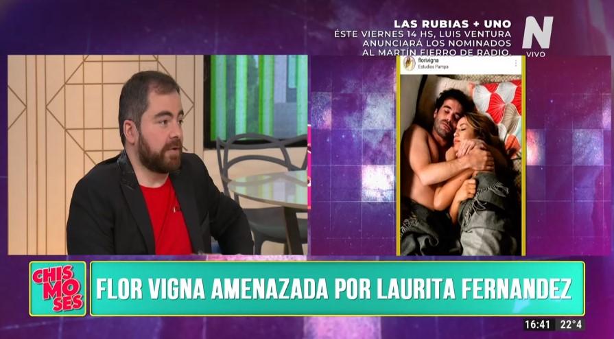 Flor Vigna habló tras ser amenazada por Laurita Fernández
