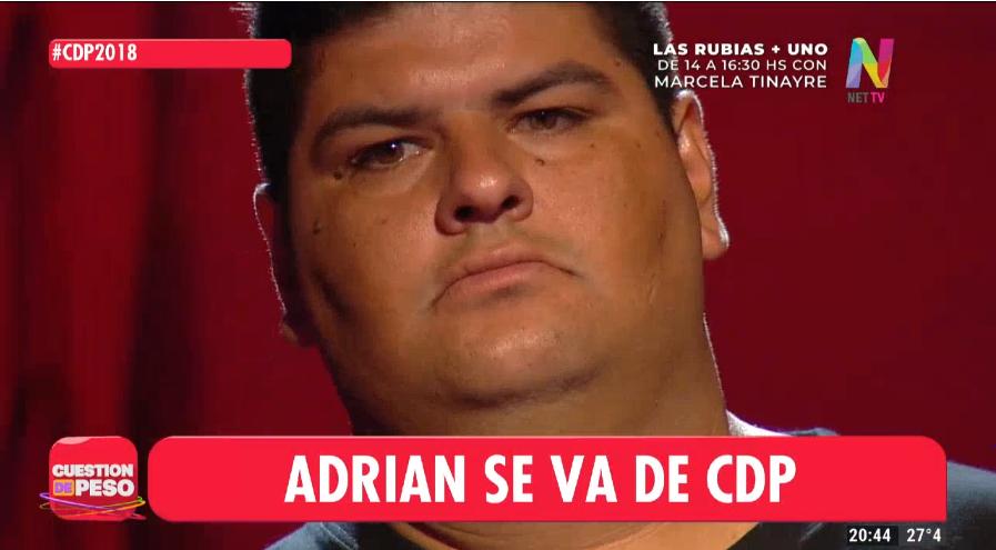 Adrián deja Cuestión de Peso