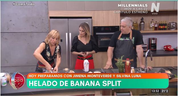 Jimena monteverde helado de banana split