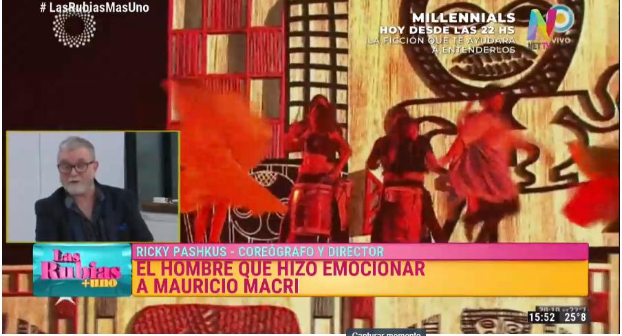 Ricky Pashkus habló de la llamada que le hizo Macri tras llorar en el Colón