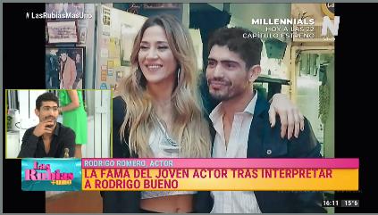 Rodrigo Romero con Jimena Barón