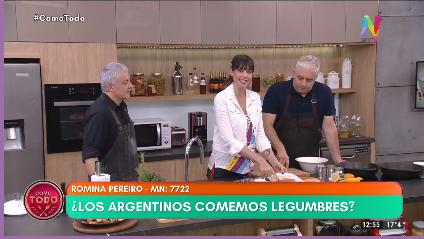Romina Pereiro cómo combinar legumbres