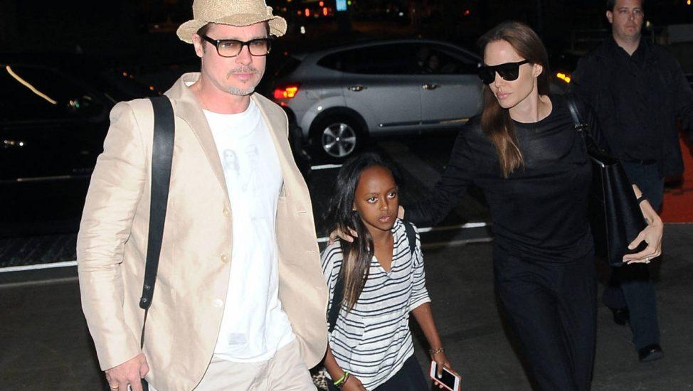 Angelina Jolie y Brad Pitt con Zahara