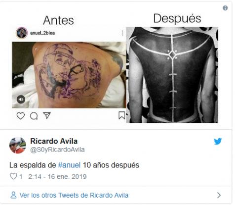 Burla tatuaje de Anuel
