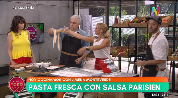 Pasta fresca con salsa pariesiene