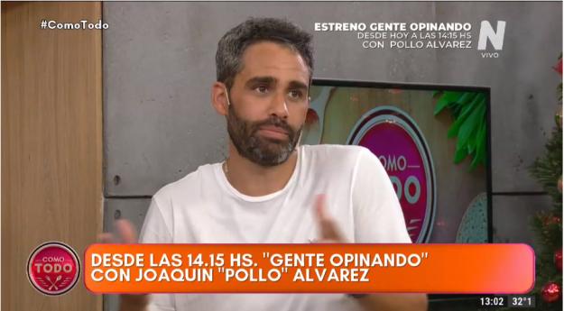 Pollo Álvarez habla de Gente Opinando