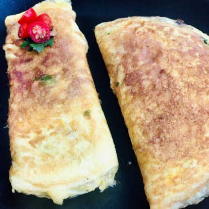 Mariano Peluffo cocina omelettes