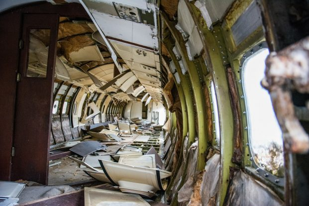 Destrozos avión