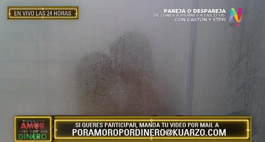 La ducha de Lionel y Rocío