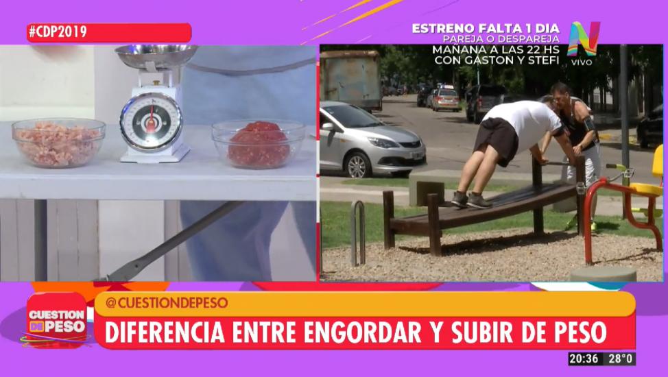 DIFERENCIA ENGORDAR Y SUBIR DE PESO