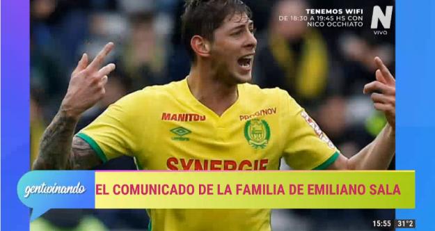 Comunicado de la familia de Emiliano Sala