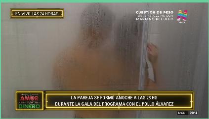 Jonathan y Brenda en la ducha