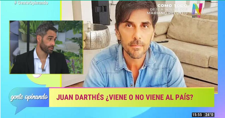 Juan Darthés viene o no a Argentina