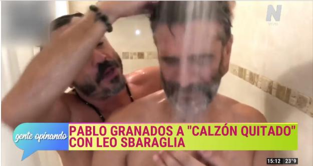 Pablo Granados se ducha con Leo Sbaraglia