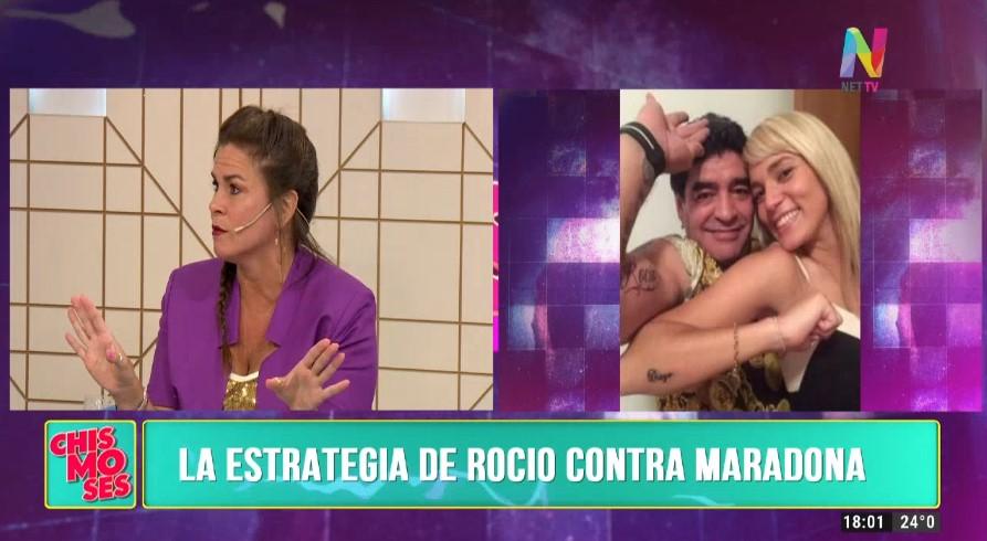 La estrategia de Rocío Oliva contra Diego Maradona