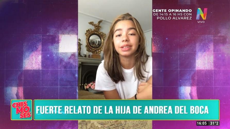 La hija de Andrea del Boca hizo una fuertísima denuncia contra su padre