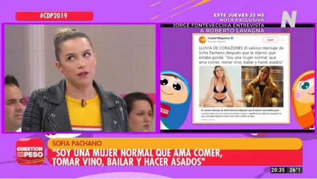 Sofía Pachano en Cuestión de Peso
