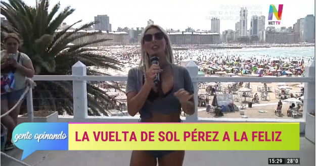 Sol Pérez en Mar Del Plata