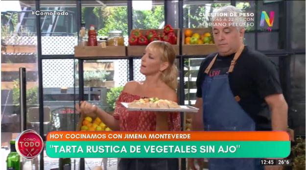 Tarta rústica de vegetales