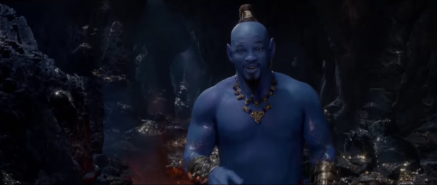 Will Smith como genil de Aladdin