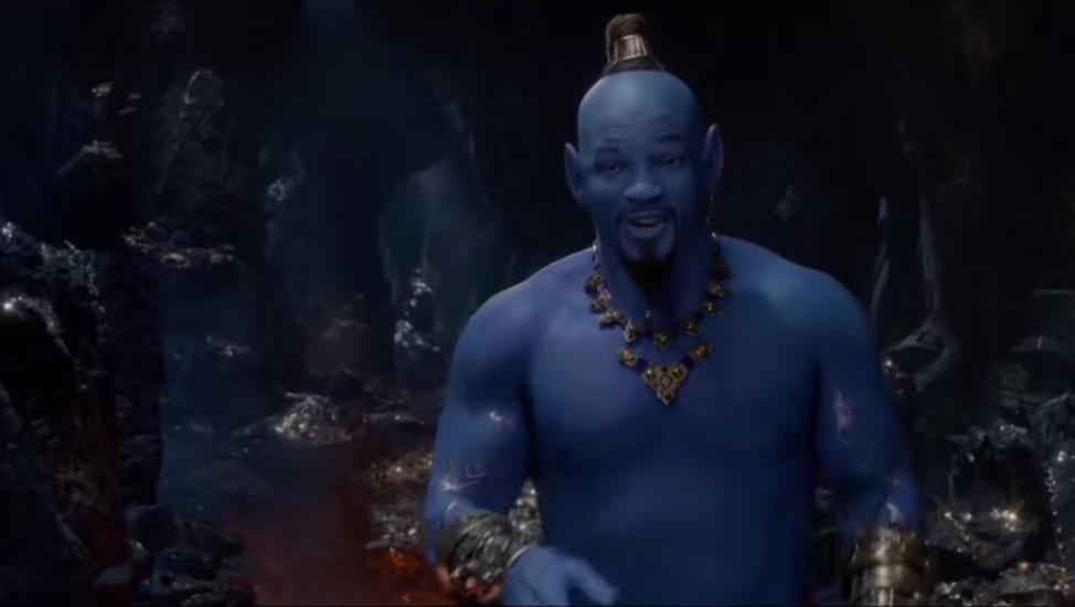 Will Smith como genil de Aladdin