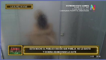 Araceli y Kevin en la ducha