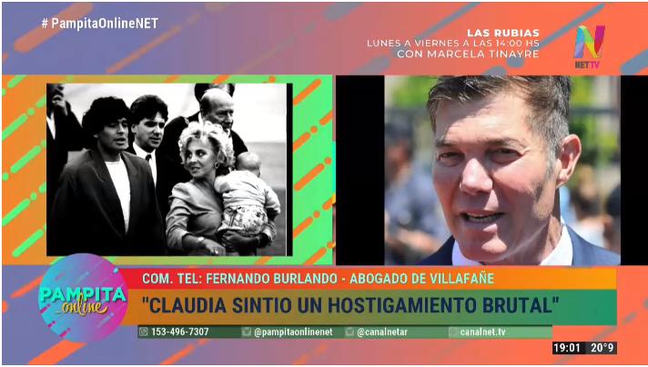 Burlando habla de la causa enter Claudia Fillafañe y Maradona