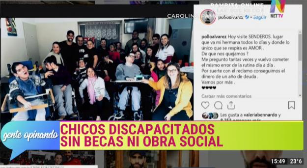 Chicos discapacitados sin becas ni obra social