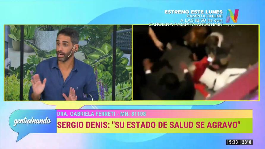 Estado de salud de Sergio Denis