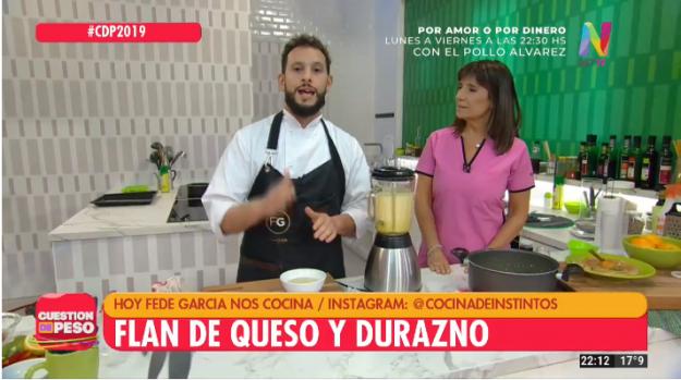Federico García cocina en Cuestión de Peso