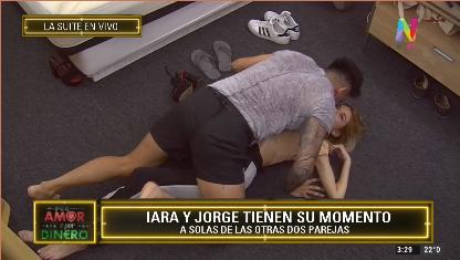 Iara y Jorge en su momento a solas