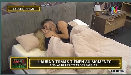 Laura y Tomás beso