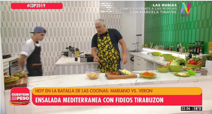 Mariano Peluffo en la batalla de cocinas