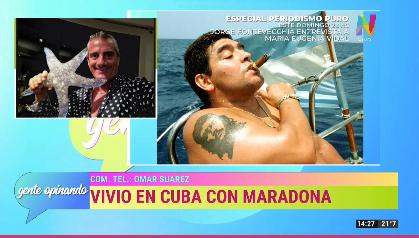 Omar Suarez habla de Maradona