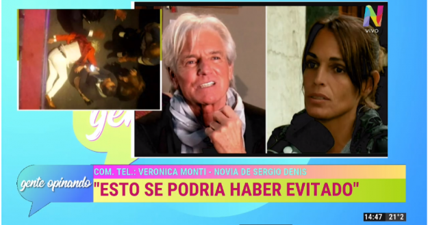 Verónica Monti novia de Sergio Denis