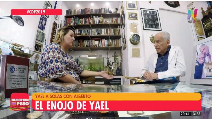 Yael a solas con Alberto Cormillot