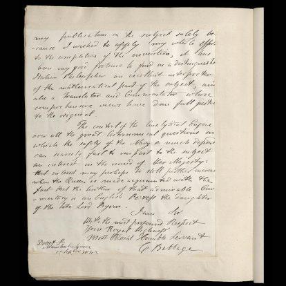 Carta Museo de Ciencias Londres 2
