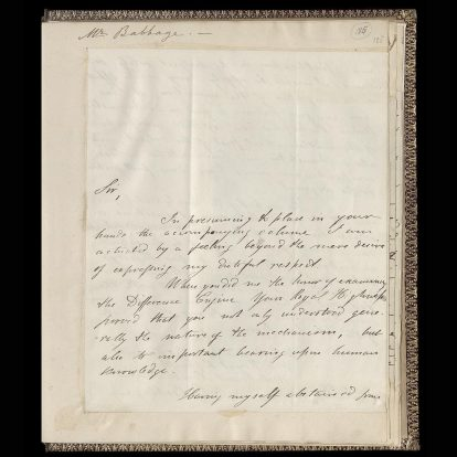 Carta Museo de Ciencias Londres 1